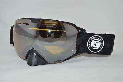 509 REVOLVER Snow Snowmobile Goggles -SPEC OPS-Chrome Mirror Yellow Tint Lens