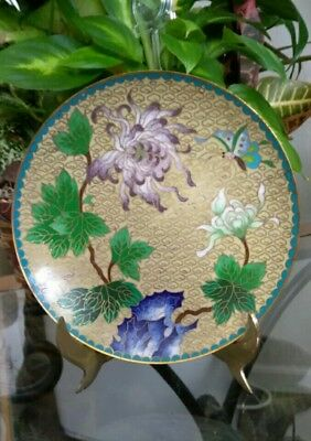 "Vintage 6"" Chinese Cloisonne Hua Pai Plate"
