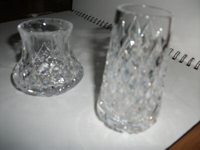 2X Tyrone Crystal VASES  Stamped - VGC - NO BOX
