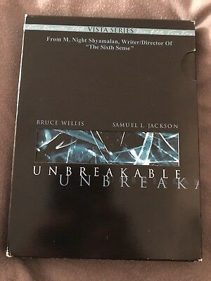 Unbreakable (DVD, 2001, 2-Disc Set, Vista Series) With Art Cards, Bruce Willis