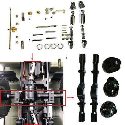 Upgrade OP Full Metal Spare Parts+Middle Axle Cover Kit For  WPL B-16 B36K 1/16