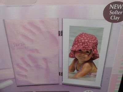 Sculpey Keepsake Clay & Frame Set - Pink - Hand / Foot Print and Picture Frame