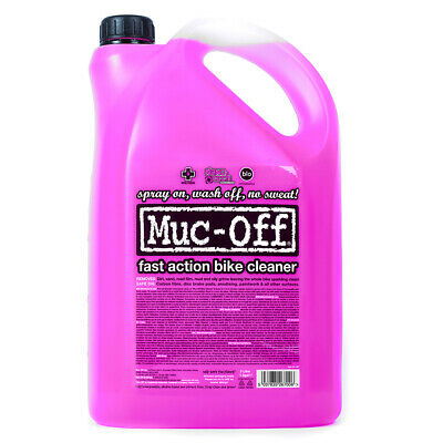 Genuine Muc-Off 5L 5 Litre Nano Tech Motorbike Cleaner + Free WD40 Product