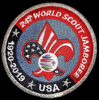 ^24th 2019 WORLD SCOUT JAMBOREE OFFICIAL USA CONTINGENT BADGE PATCH BSA