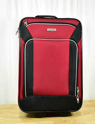 American Tourister Fieldbrook XLT Rolling 3 Piece Travel Luggage Set Red