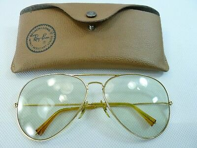 vintage large Bausch & Lomb Ray Ban USA glasses clear to sunlight color change