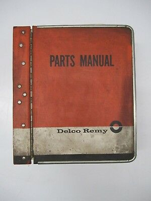 Vtg 1960s Delco Remy Accessories Car Parts Catalog Manual Book Volume 1 Binder
