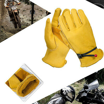 Soft Leather Heave Duty Work Gloves Anti-cutting Safety For Gardening Work DIY