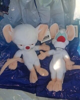 """Warner Brothers Studio Store ANIMANIACS 7"""" Pinky And The Brain plush with tags"""