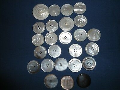 Vtg.-Antiq.assorted Lot Of Shell Buttons