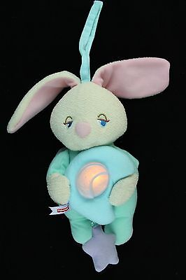 Fisher Price Soothing Surroundings Moon Glow Bunny 2001 73479 Music Lights