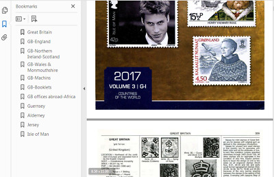 GREAT BRITAIN Scott 2017(v.3) & Michel 2017/18  Stamp catalogues Excerpts( DVD )