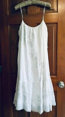 7ffe4bce1ba ELIE TAHARI Women s designer SUNDRESS cotton white delicate embroidery size  12