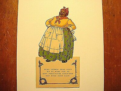 Antique Black Americana Standup Christmas Card