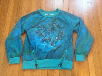 NWT Disney Store Descendants Uma long sleeve Pullover Top Blue Girl