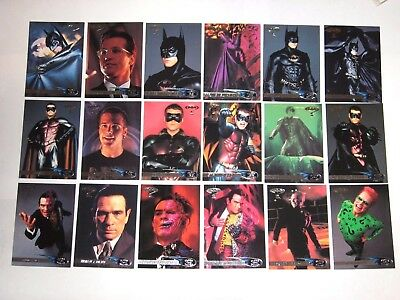 1995 Fleer Ultra Batman Forever Base 120 Card Set! Dc Comics! Robin! Two-Face!