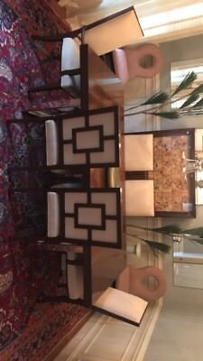 $1600 Theodore alexander Pair Keyhole  Nailhead chairs set of 2