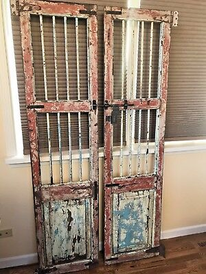 Antique Pair Of Architectural Salvage Doors,Wine Cellar,Solid