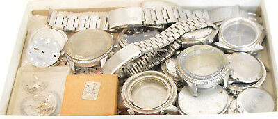Orient Big Lot / Box Vintage Men's Watches and Parts Watchmakers Watch parts