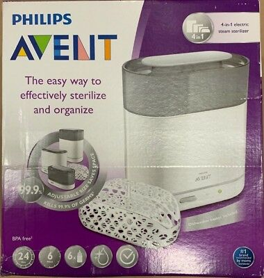 Philips Avent Baby BPA Free Adjustable 4 in 1 Electric Natural Steam Sterilizer