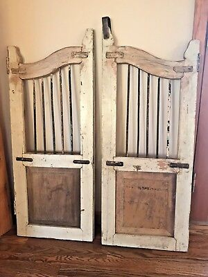 Antique Architectural Salvage Saloon Tavern Bar Wood Doors