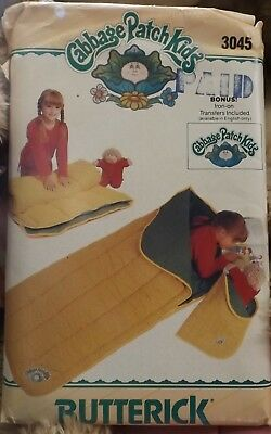 Butterick #3045 Cabbage Patch Kids Sleeping Bag Pattern - uncut