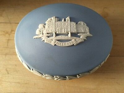"Wedgwood Jasperware Large Oval Pale Blue Box/lid 4+"" Foxlease 1922-1997 NICE!"
