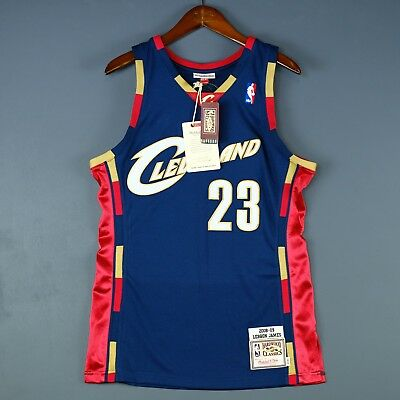 651674ea7 100% Authentic Lebron James Mitchell Ness Cavaliers Jersey Mens Size 48 XL  Mens