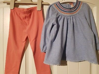 Baby Girls 12-18 Months Long Sleeved Top And Leggings (A426)