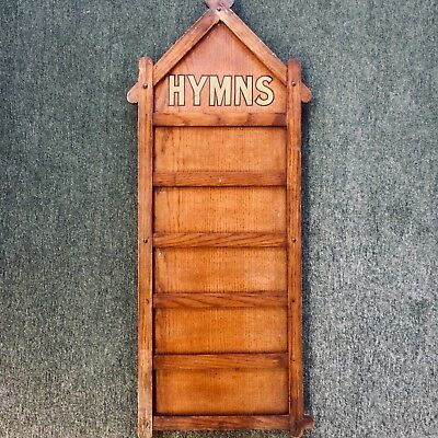 Rare * 1920s * Oak * HYMN BOARD * Shop DISPLAY * Architectural * CHURCH