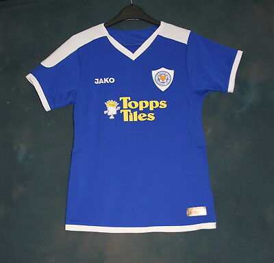 Leicester City 2007 - 2009 womans home shirt size 12 L Jako Topps Tiles ladies