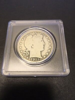 1913-S Barber Silver Half Dollar * Better Date * Low 604,000 Mintage * Strong