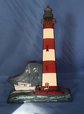 Sheila's Wooden Miniature House-#PLH42 2001 Charleston Light Marris Island, SC