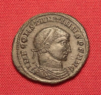 Ancient Roman Bronze Constantinus Follis Coin