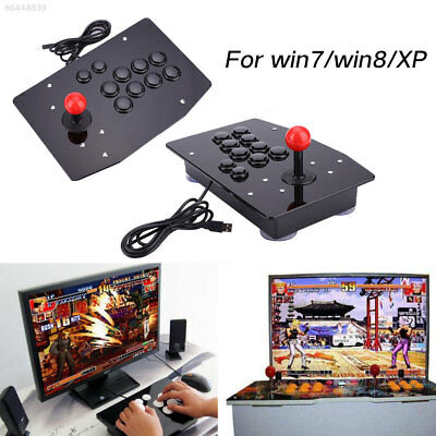 Wired USB Arcade Fighting Joystick Controller Gamepad Video Game For PC