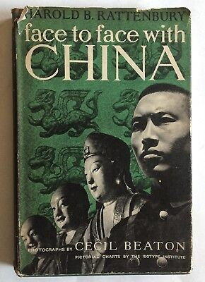 Face To Face With China Rattenbury 1945 Hc Dj Cecil Beaton Photos Isotype Charts