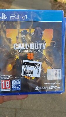 Ps4 Playstation 4 Call Of Duty Black Ops 4  Nuovo Dvd Italia