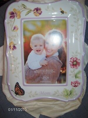 Lenox Butterfly Meadow ~ MOM ~ Photo Picture Frame For 4x6 Photo ~ Frame 9x7 NEW