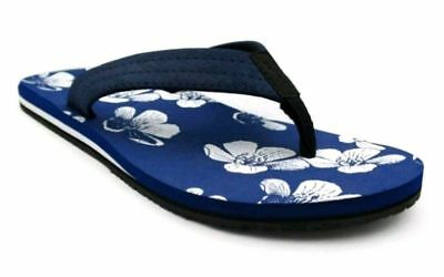 ca64b8eab84f Goodfellow   Co Men s Navy Aloha Floral Footbed Ryan Flip Flop Sandals ...