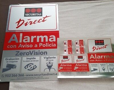 Placa alarma grande + pegatinas securitas Direct. Modelo 2018 Alarma Verisure