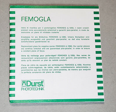 1 X DURST LABORATOR L1200 FEMOGLA GLASS for FEMONEG Negative Carrier