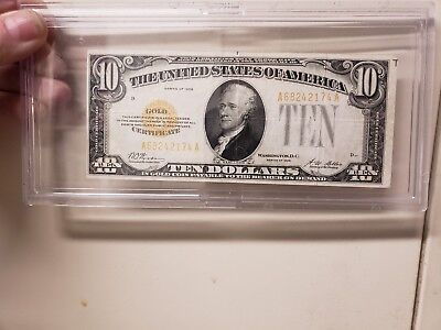 1928 $10 Ten Dollar Gold Certificate           see other stuf HURRY LAST CHANCE