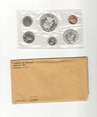 1966 Republic of Panama Proof 6 Coin set w/ Silver in OGP
