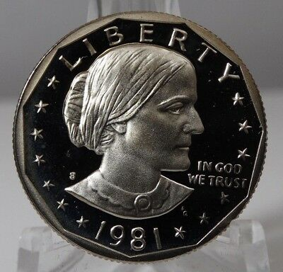 1981 S Susan B Anthony Dollar Type 2  Proof