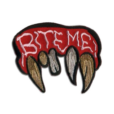 BITE ME RED Motorcycle Embroidered Funny MC Club NEW Biker Vest Patch PAT-0261