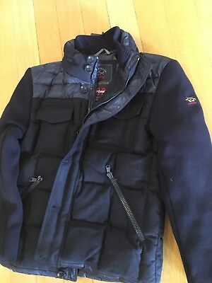 4d610de9cf NEW PAUL & Shark Yachting Jacket Blue Navy Blue Real Feather WOOL L