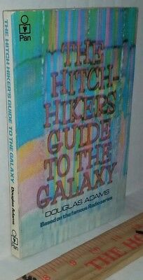 Hitchhiker's Guide to Galaxy Douglas Adams VINTAGE 1stEdition PAN Paperback 1980