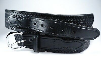 Gould & Goodrich Size 34 Police Style Leather Belt B115 Good Used Condition