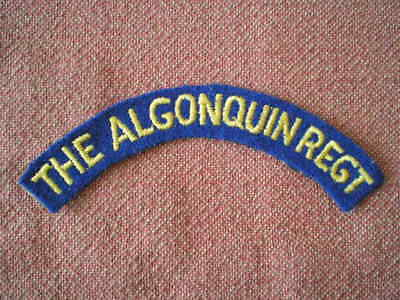 WW2 The Algonquin Regiment Cloth Shoulder Title Badge