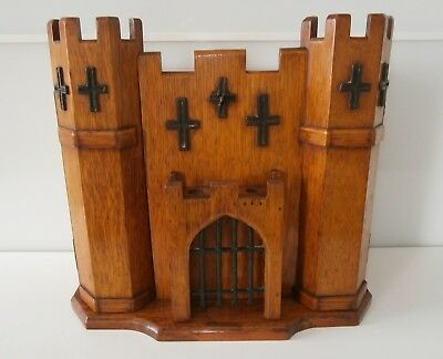 Superb Rare Antique Novelty Castle - Work - Jewellery - Tobacco Cabinet c1890-10